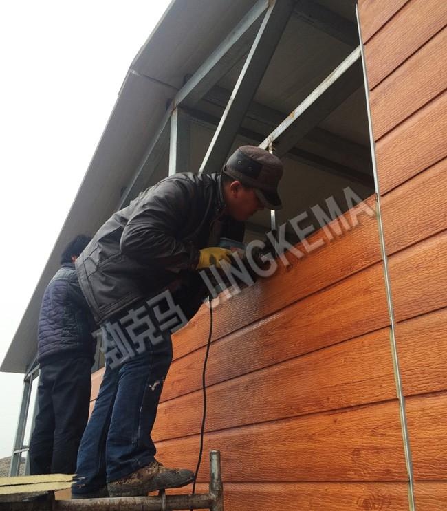 钢结构外墙板安装1